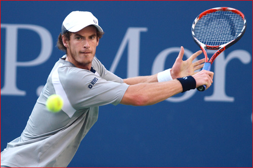 Andy Murray Hitting A Backhand Slice