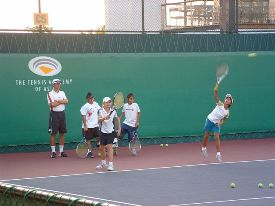 Tennis group lesson