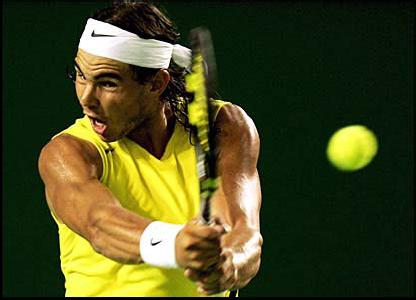 Nadal's gaze and head control