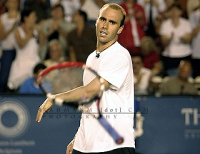 Frustrated tennis player