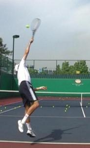Topspin tennis serve