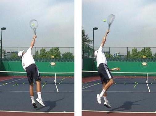 Topspin and flat tennis serve comparison